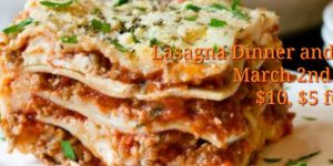 Annual Lasagna Dinner & Raffle